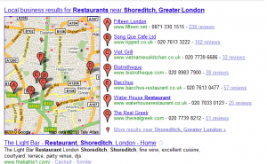 Local Map Restaurants E1