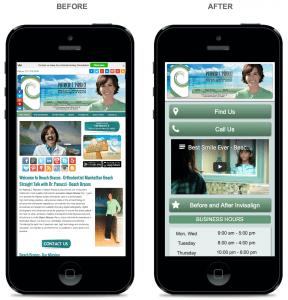 BB B&A Mobile Website Comparison