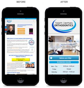 Before & After Mobile Website Development