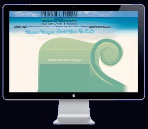 beach braces website before blend website redesign