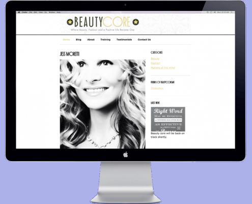 beautycore website development by blendlocalsearchmarketing