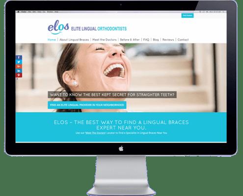 Elite Lingual Orthodontic Study Club website development