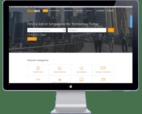 future work website design