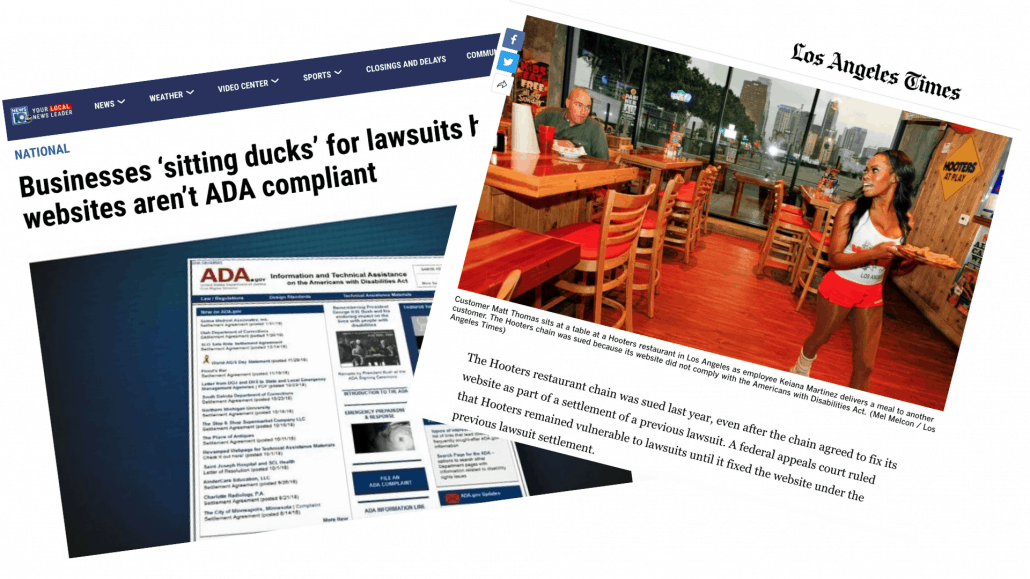 ADA Website Compliancy Lawsuites in the News