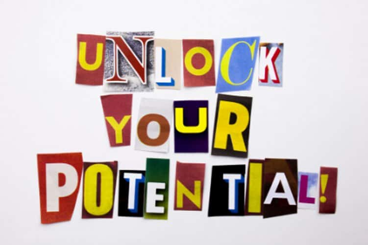 unlock your potential graphic