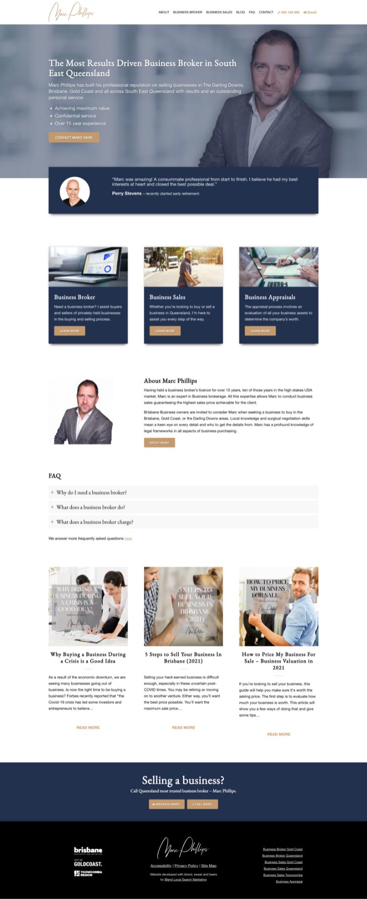 website design business broker